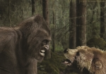 Poster Bigfoot vs Bear